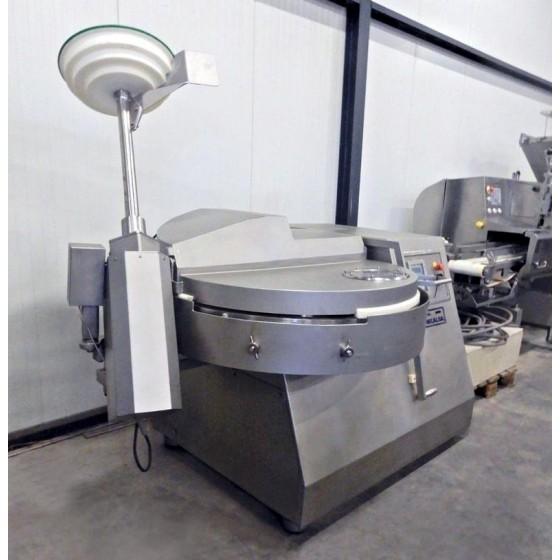 Cutter Mecalsa con descargador de 125 litros de capacidad