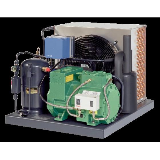 Glaseadora (máquina continua de glaseo) con unidad autónoma de enfriamiento Bitzer