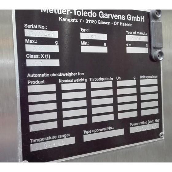 Controladora de peso Mettler-Toledo, tipo: XS1