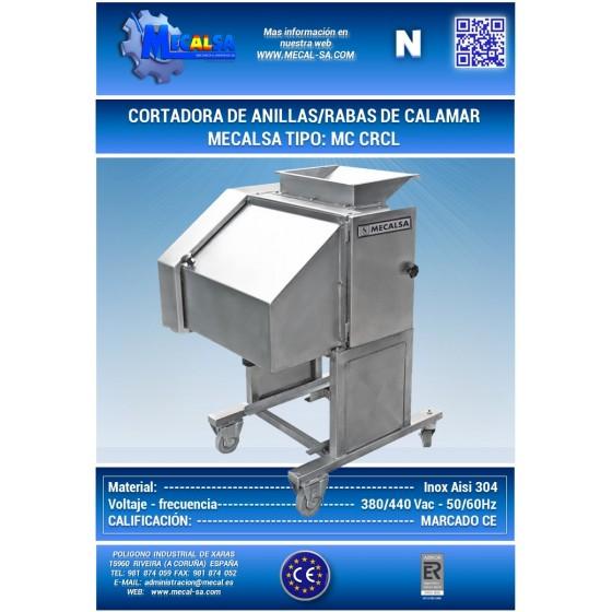 CORTADORA DE ANILLAS DE CALAMAR, MECALSA TIPO: MC CRCL