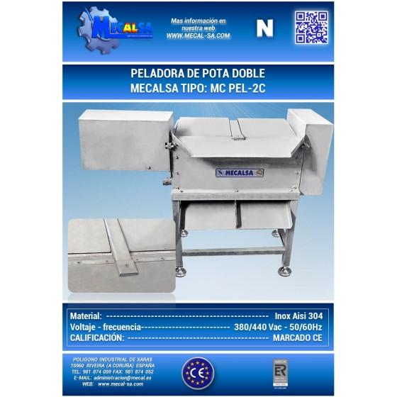 PELADORA DE POTA DOBLE, MECALSA tipo:  MC PEL-2C
